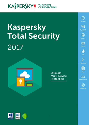 Packaging by Kaspersky Total Security 2017 - 3 Devices / 12 Months (EU licence) [MULTIPLATFORM]