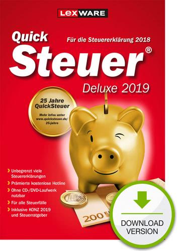 Verpackung von QuickSteuer Deluxe 2019 (für Steuerjahr 2018) [PC-Software]