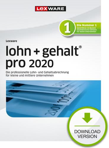 Lexware lohn + gehalt 2020 pro – Jahresversion (365-Tage) (Download), PC