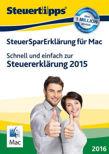 Verpackung von SteuerSparErklärung 2016 [Mac-Software]