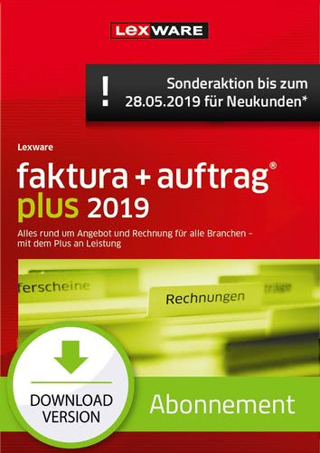 faktura + auftrag Plus 2019 Abonnement (Aktionspreis) (Download), PC