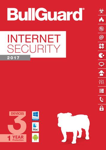 Packaging by BullGuard Internet Security 2017 Multiplatform 3 Devices / 12 Months [MULTIPLATFORM]