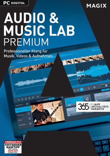 Verpackung von Magix Audio & Music Lab Premium (2017) [PC-Software]