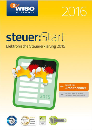 Verpackung von WISO steuer:Start 2016 (für Steuerjahr 2015) [PC-Software]