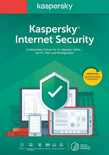 Kaspersky Internet Security 2020- 5 Geräte / 12 Monate (Download), Multi
