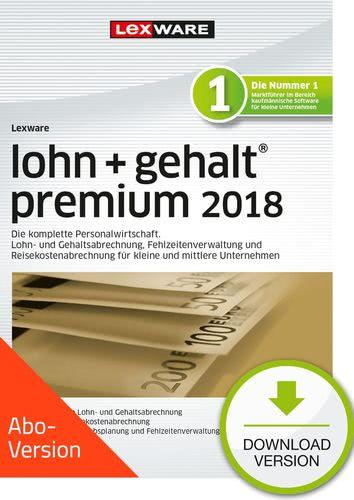 Verpackung von Lexware lohn+gehalt premium 2018 Download - Abo Version [PC-Software]