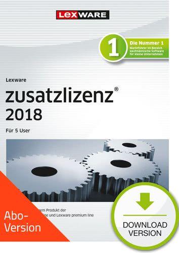 Verpackung von Lexware zusatzlizenz 2018 für Produkte der professional und premium line Download - Abo Version für 5 User [PC-Software]