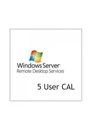 Verpackung von Microsoft Windows Remote Desktop Services 2012 - 5 User CAL [PC-Software]