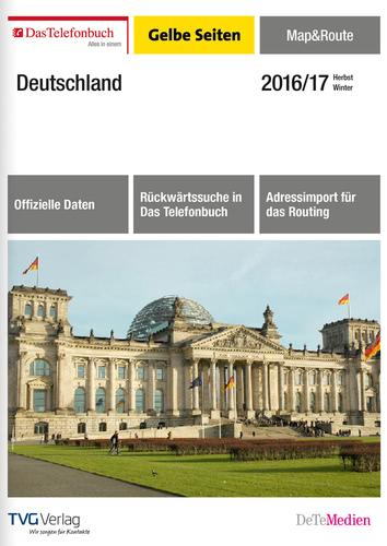Verpackung von TVG Verlag Das Telefonbuch Gelbe Seiten Map&Route Herbst/Winter 2016/17 [PC-Software]
