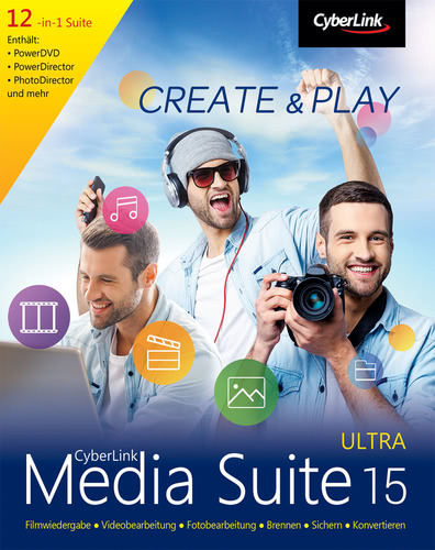 Verpackung von CyberLink Media Suite 15 Ultra [PC-Software]