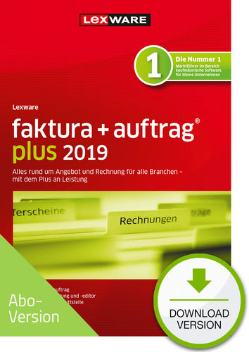 faktura + auftrag plus 2019 Download – Abo Version (Download), PC