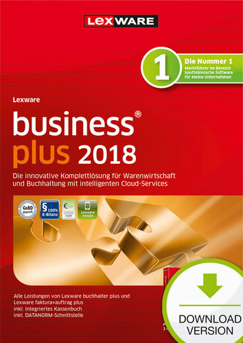 Verpackung von Lexware business plus 2018 Jahresversion (365-Tage) [PC-Software]
