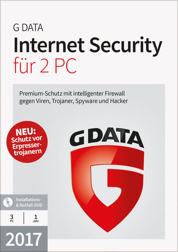 Verpackung von G Data Internet Security 2017 - 2 User - 12 Monate [PC-Software]