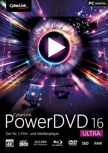 Verpackung von CyberLink PowerDVD 16 Ultra [PC-Software]