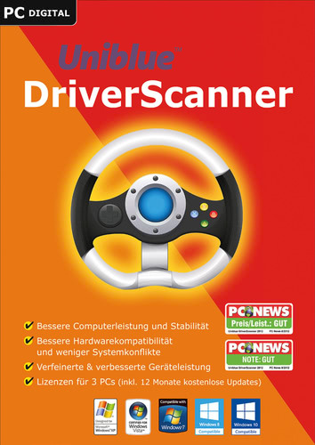 Verpackung von Uniblue DriverScanner 2017 [PC-Software]