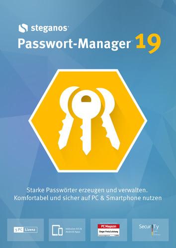 Verpackung von Steganos Passwort Manager 19 [PC-Software]