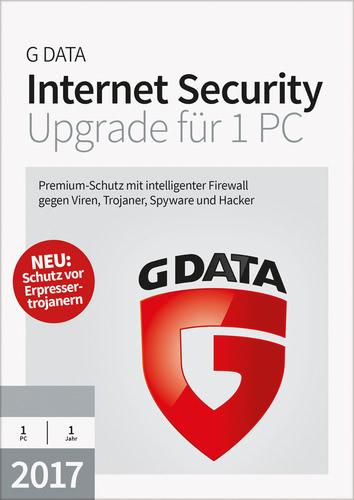 Verpackung von G Data Internet Security 2017 Upgrade - 1 Benutzer - 12 Monate [PC-Software]