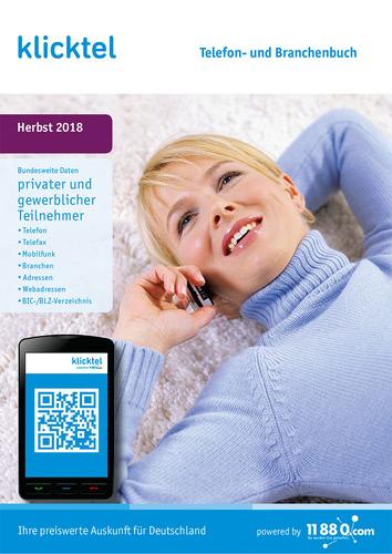 Verpackung von klickTel Telefon- und Branchenbuch Herbst 2018 [PC-Software]