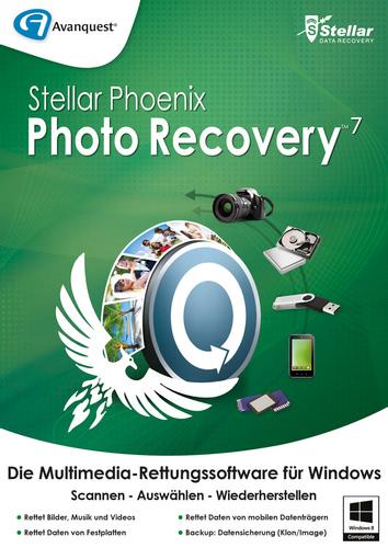 Verpackung von Stellar Phoenix Photo Recovery 7 für Windows [PC-Software]