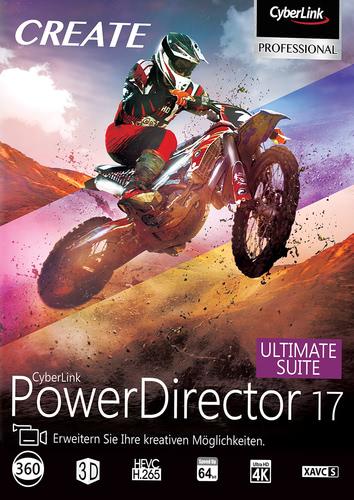 Verpackung von PowerDirector 17 Ultimate Suite [PC-Software]