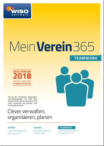 Verpackung von WISO Mein Verein 365 - teamwork - Edition (2018) [PC-Software]
