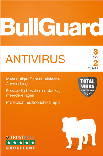 Verpackung von BullGuard Antivirus 3 PCs 24 Monate [PC-Software]