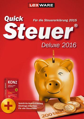Verpackung von Quicksteuer Deluxe 2016 (für Steuerjahr 2015) [PC-Software]