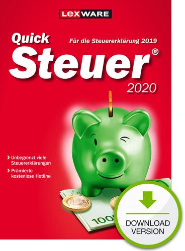 Verpackung von QuickSteuer 2020  (für Steuerjahr 2019) [PC-Software]