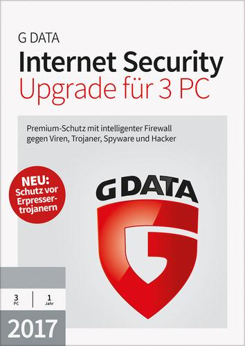 Verpackung von G Data Internet Security 2017 Upgrade - 3 Benutzer - 12 Monate [PC-Software]