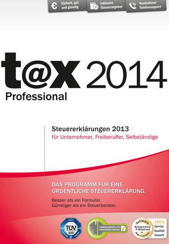 Verpackung von t@x Professional 2014 [PC-Software]