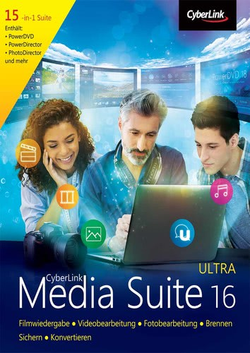 Verpackung von CyberLink Media Suite 16 Ultra [PC-Software]