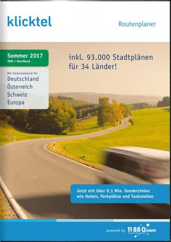 Verpackung von klickTel Routenplaner Sommer 2017 [PC-Software]