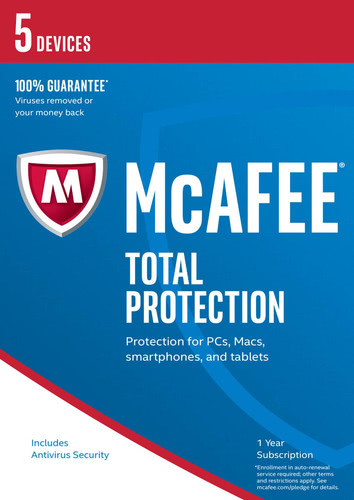 Packaging by McAfee Total Protection 2017 5 Devices / 12 Months [PC-software]