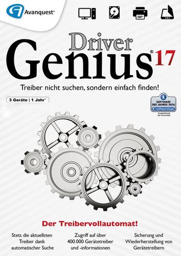 Verpackung von Driver Genius 17 - 3 PCs / 1 Jahr [PC-Software]