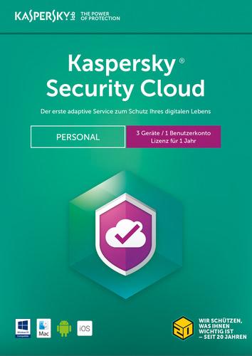 Verpackung von Kaspersky Security Cloud (2018) Personal Edition - 3 Geräte / 12 Monate [MULTIPLATFORM]