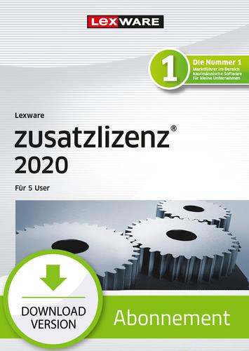 Verpackung von Lexware zusatzlizenz 2020 für 5 User - Abo-Version [PC-Software]
