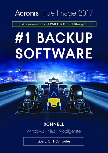 Verpackung von Acronis True Image 2017 Subscription - 1-Jahres-Abonnement für 1 Computer + 250 GB Acronis Cloud Storage [MULTIPLATFORM]