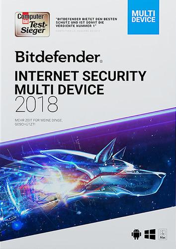 Verpackung von BitDefender Internet Security Multi-Device (2018) 10 Geräte / 24 Monate [MULTIPLATFORM]