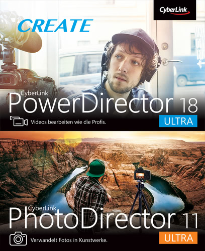 Verpackung von PowerDirector 18 & PhotoDirector 11 Duo [PC-Software]