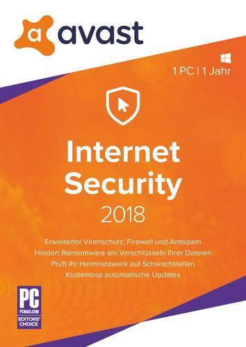 Verpackung von Avast Internet Security 2018 - 1 PC / 1 Jahr [PC-Software]