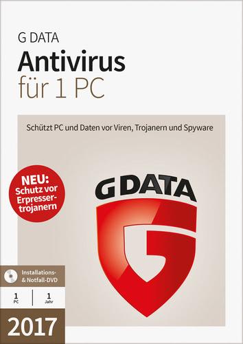 Verpackung von G Data Antivirus 2017 - 1 Benutzer - 12 Monate [PC-Software]