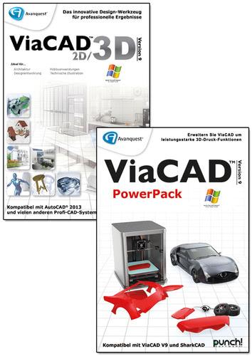 Verpackung von ViaCAD 2D/3D 9 + PowerPack (Windows) [PC-Software]