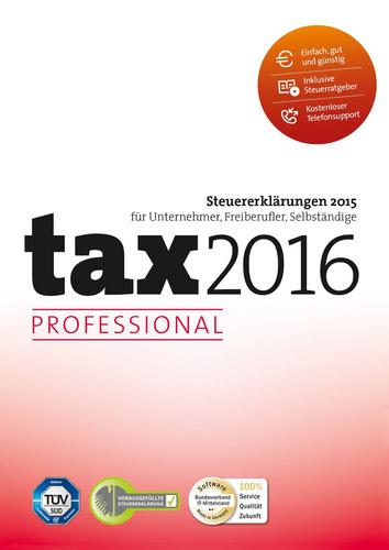 Verpackung von tax 2016 Professional (für Steuerjahr 2015) [PC-Software]