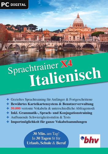 Verpackung von Sprachtrainer X4 Italienisch [PC-Software]