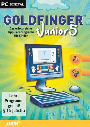 Verpackung von Goldfinger Junior 5- Das erfolgreiche Tipp-Programm für Kinder ab 8 Jahren [PC-Software]