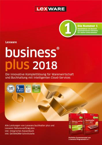 Verpackung von Lexware business plus 2018 Jahresversion 365-Tage [PC-Software]