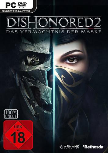 Verpackung von Dishonored 2: Das Vermächtnis der Maske [PC]