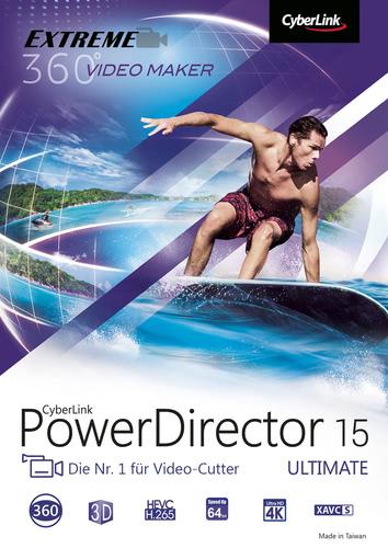 Verpackung von CyberLink PowerDirector 15 Ultimate [PC-Software]