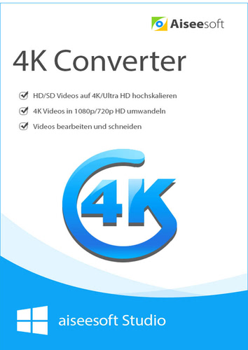 Aiseesoft 4K Converter- Lebenslange Lizenz (Download), PC