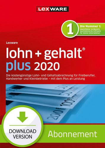 Verpackung von Lexware lohn + gehalt 2020 plus - Abo-Version [PC-Software]
